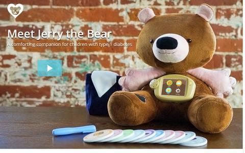 Screenshot of Home Page jerrythebear.com - Jerry the Bear - captured Jan. 8, 2016