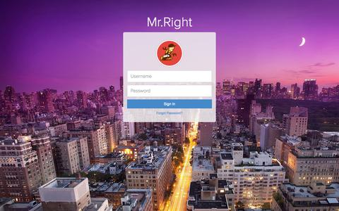 Screenshot of Login Page mrright.in - Mr.Right - Sign In - captured Oct. 26, 2014
