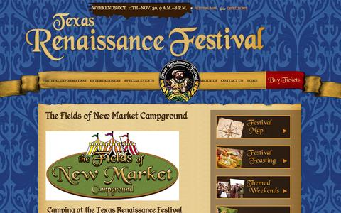 Screenshot of Hours Page texrenfest.com - The Fields of New Market Campground | Texas Renaissance Festival - captured Nov. 5, 2014