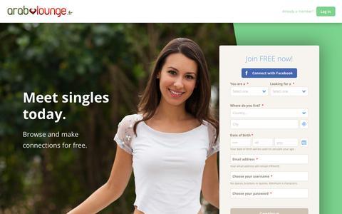 Screenshot of Home Page arablounge.fr - World Singles Network - captured Nov. 8, 2018