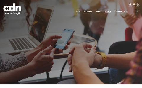 Screenshot of Press Page cdn.com.br - News | CDN - captured Sept. 2, 2016