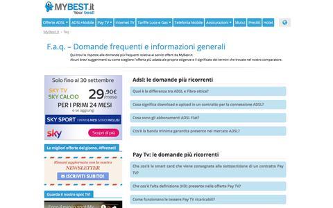 Screenshot of FAQ Page mybest.it - F.a.q. – Domande frequenti e informazioni generali | myBest.it - captured Sept. 25, 2018