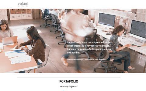 Screenshot of Home Page velumventures.com - Velum Ventures - captured Aug. 12, 2016