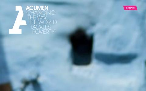 Screenshot of Home Page acumen.org - Acumen is a Bold New Way of Tackling Poverty - captured Jan. 8, 2016