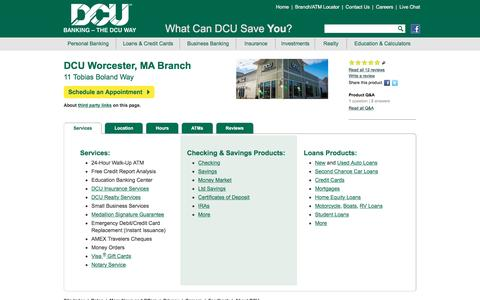 DCU Branch Location at 11 Boland Way, Worcester, MA