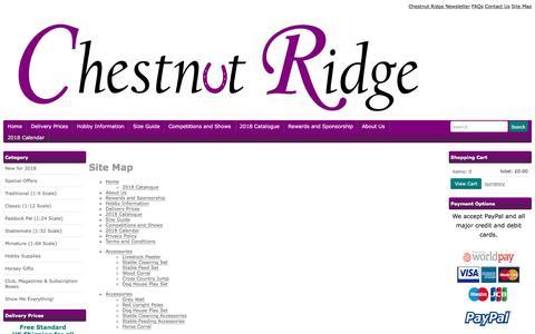 Screenshot of Site Map Page chestnutridge.co.uk - Sitemap - captured July 17, 2018