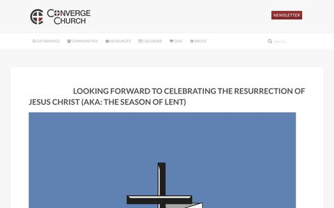 Screenshot of Blog convergechurch.ca - Converge Church  » Blog - captured July 16, 2016