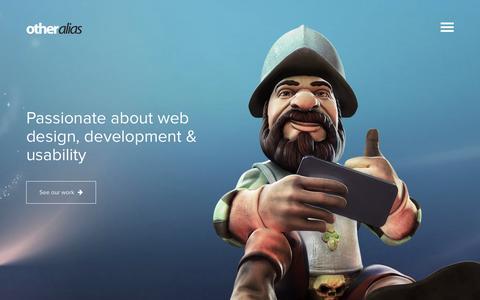 Screenshot of Home Page otheralias.com - Web Design, Development, Content Managament & Usability - captured Feb. 21, 2016