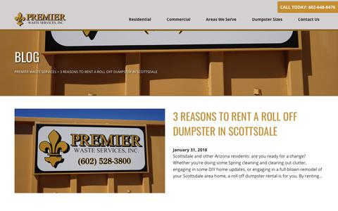 Screenshot of Blog premierwasteservices.com - Blog - Premier Waste Services Premier Waste Services - captured July 21, 2018