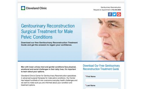 Screenshot of Landing Page clevelandclinic.org - Genitourinary Reconstruction Guide Download | Cleveland Clinic - captured Jan. 15, 2017