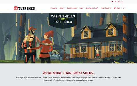 Screenshot of Home Page tuffshed.com - Tuff Shed | More Than Just Sheds - captured Oct. 1, 2015