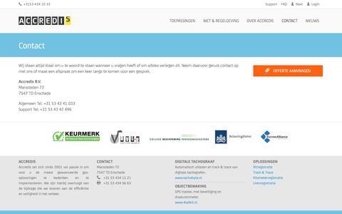 Screenshot of Contact Page accredis.nl - Contact | Accredis B.V. - captured Aug. 14, 2017