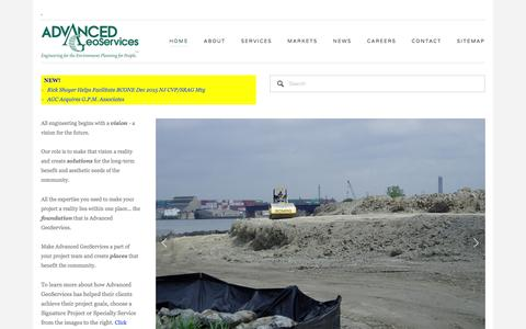 Screenshot of Home Page advancedgeoservices.com - Advanced GeoServices Corp. - captured Feb. 5, 2016