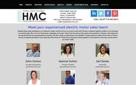 Screenshot of Team Page motor-hmc.com - Team | Houston Motor & ControlHouston Motor & Control - captured Oct. 3, 2014