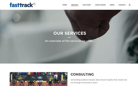 Screenshot of Services Page fasttrackagency.com - FastTrack   –  Services - captured Feb. 9, 2016