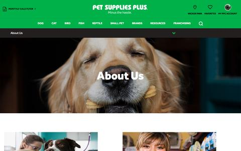 Screenshot of About Page petsuppliesplus.com - Pet Supplies Plus - captured May 16, 2017
