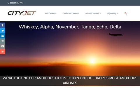 Screenshot of Jobs Page cityjet.com - CityJet Careers, Airline Jobs - Office, Pilot & Cabin Crew Jobs - captured Nov. 4, 2018