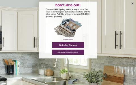 Screenshot of Home Page cabinetstogo.com - Cabinets To Go Your One Stop Dream Kitchen Shop - captured Feb. 11, 2020