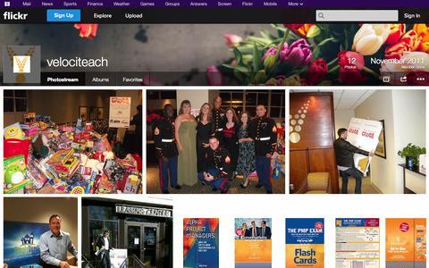 Screenshot of Flickr Page flickr.com - Flickr: velociteach's Photostream - captured Oct. 26, 2014