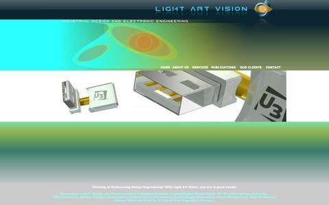 Screenshot of Services Page lightartvision.com captured Oct. 2, 2014