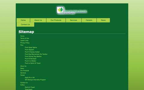 Screenshot of Site Map Page greenrevolution.com.pk - Sitemap | Green Revolution | Revolution in the Agricultural Field - captured Sept. 22, 2014