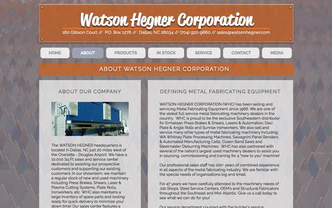 Screenshot of About Page watsonhegner.com - watsonhegner | ABOUT - captured Nov. 10, 2017