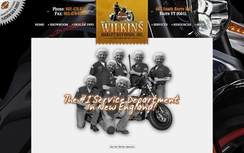 Screenshot of Services Page wilkinsharley.com - Service Department   Wilkins Harley-Davidson®   Barre Vermont - captured Oct. 7, 2014