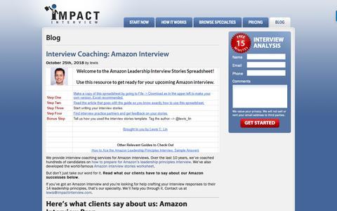 Screenshot of Blog impactinterview.com - Blog  |  Impact Interview - captured Nov. 6, 2018