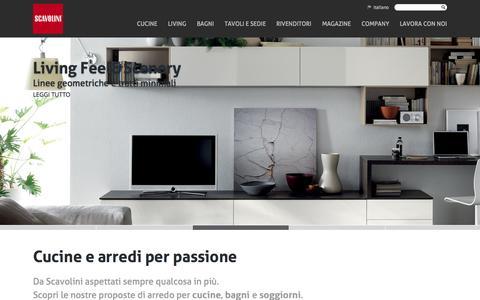Screenshot of Home Page scavolini.com - Scavolini: Arredo Cucine Bagni e Living - captured Sept. 23, 2014
