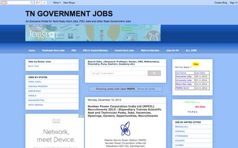 Screenshot of Maps & Directions Page tngovernmentjobs.in - TN GOVERNMENT JOBS - captured Oct. 30, 2014