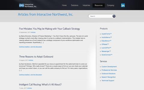 Screenshot of Blog interactivenw.com - Articles Archives | Interactive Northwest, Inc. - captured Oct. 15, 2017