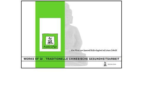 Screenshot of Home Page tcm-beratung.com - Works Of Qi   » Index - captured June 10, 2016
