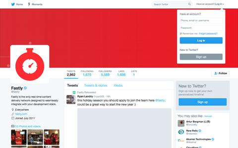 Fastly (@fastly)   Twitter