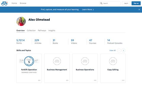 Alex Olmstead's Profile | Degreed