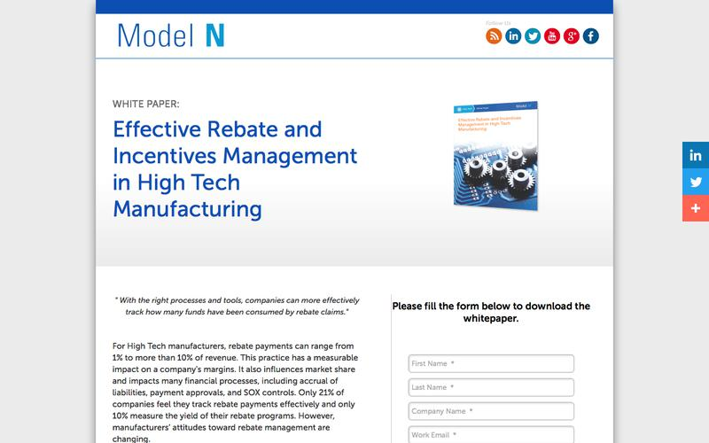 Effective Rebate and Incentives Management in High Tech Manufacturing