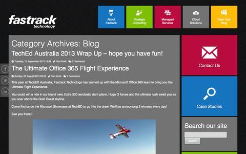 Screenshot of Blog fastracktechnology.com.au - Blog | Fastrack Technology - captured Oct. 5, 2014