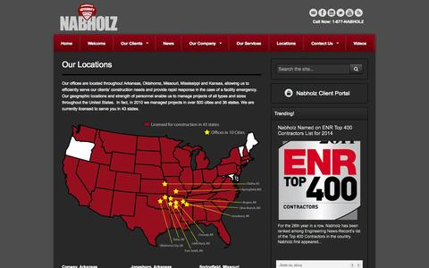 Screenshot of Locations Page nabholz.com - Our Locations | www.nabholz.com - captured Sept. 30, 2014