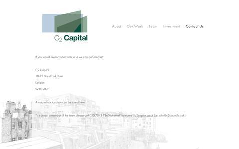 Screenshot of Contact Page squarespace.com - Contact Us — C2 Capital - captured Sept. 11, 2014
