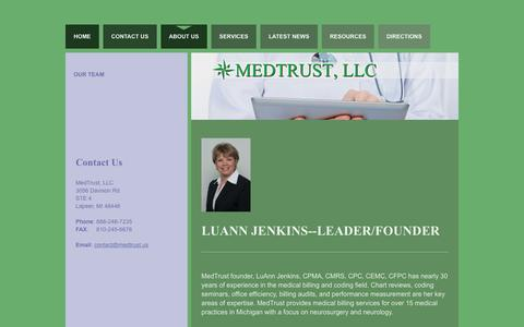 Screenshot of About Page medtrust.us - About Us | Medical Billing & Consulting - captured Feb. 12, 2016