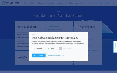Screenshot of Contact Page vanlanschot.nl - Contact | Van Lanschot - captured Oct. 18, 2018