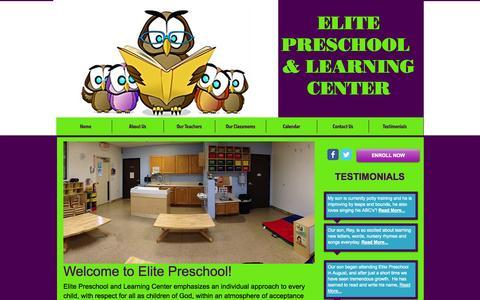 Screenshot of Home Page elitepreschool.org - Elite Preschool and Learning Center in Phoenix | Phoenix, AZ 85043 - captured Oct. 2, 2014