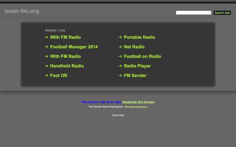 Screenshot of Home Page main-fm.org - Main-Fm.org - captured Dec. 10, 2016