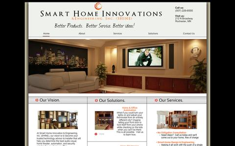 Screenshot of Home Page smarthomeinnovations.com - Smart Home Innovations -Rochester, MN - Audio Video Design and Installation - captured Feb. 6, 2015