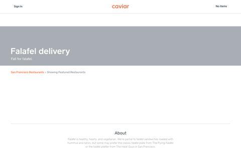 Falafel delivery | Caviar