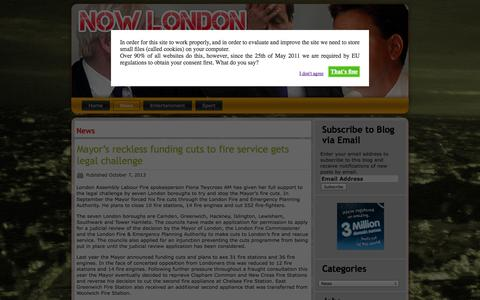 Screenshot of Press Page now-london.co.uk - News | Now London - captured Oct. 6, 2014