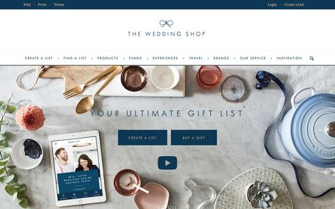Screenshot of Home Page weddingshop.com - The Wedding Shop | Shop our range of Over 30,000 Products | Wedding Gift Lists | The Wedding Shop - captured Oct. 20, 2018