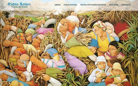 Screenshot of Home Page pablosolari.com.ar - Pablo Solari - Poeta del Color, Artista Plástico de Nivel Internacional, Realismo Interior - captured March 26, 2017