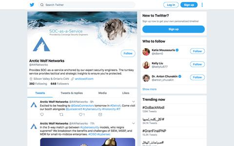 Tweets by Arctic Wolf Networks (@AWNetworks) – Twitter