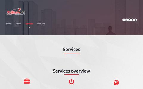 Screenshot of Services Page trilliumpc.com - Services  |  TrilliumPC Network Solutions Inc. - captured Dec. 16, 2016