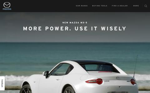 Screenshot of Home Page mazda.com.au - Mazda Australia | New Cars, Offers, Dealerships - Zoom-Zoom - captured Oct. 17, 2018